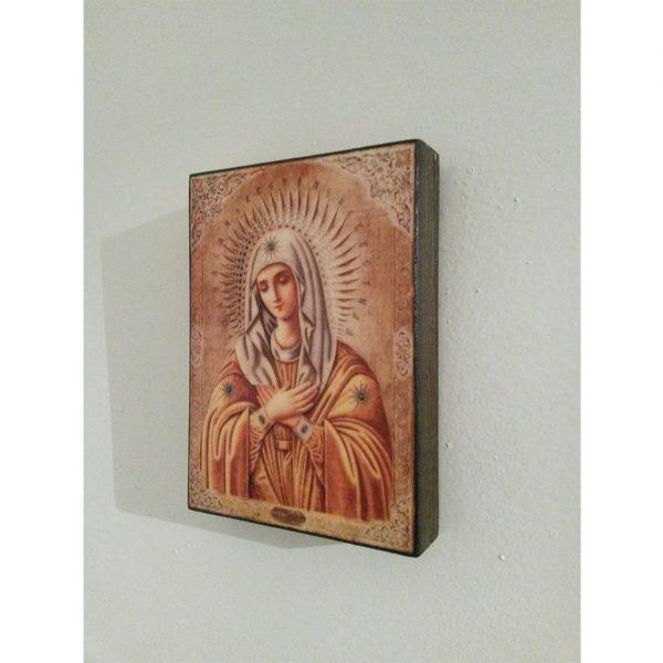 """""""Theotokos"""" Christian Icon 4x3"""" (11x8cm)"""