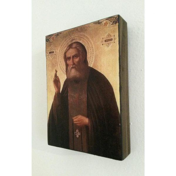 """Saint Seraphim"" Christian Icon 4x3"" (11x8cm)"