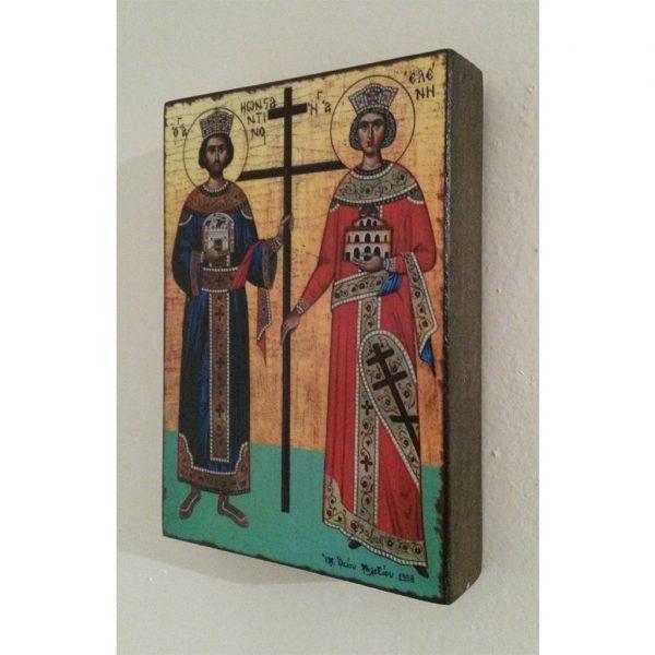 "Constantine and Helena, Christian Icon 4x3"" (11x8cm) - Artastate"