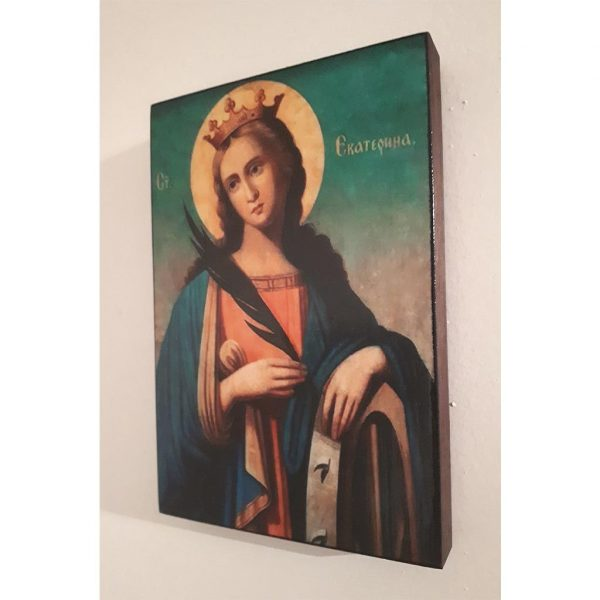 "Saint Catherine, Christian Icon 6x4"" (16x11cm) - Artastate"