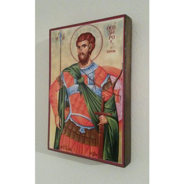 """Saint Theodore Tyrone"" Christian Icon 6x4"" (16x11cm)"