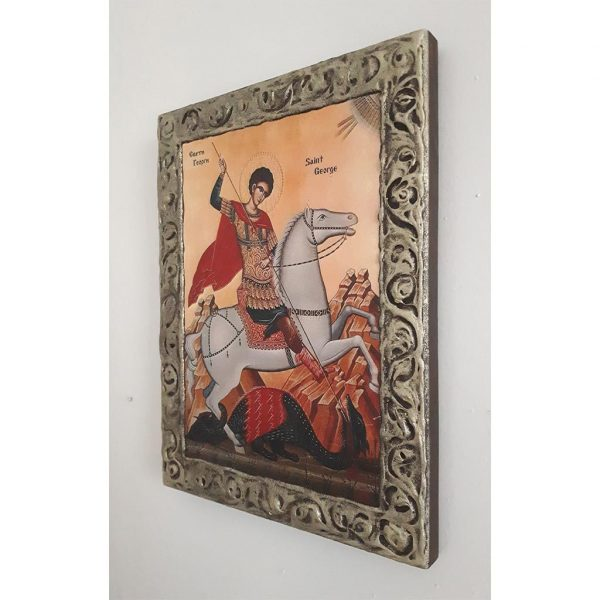 "Saint George, Christian Icon 10x8"" (26x20cm) - Artastate"