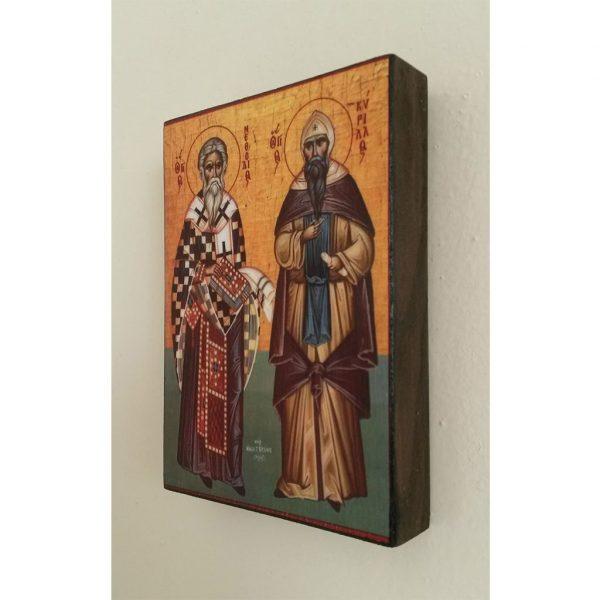 "Cyril and Methodius, Christian Icon 4x3"" (11x8cm) - Artastate"