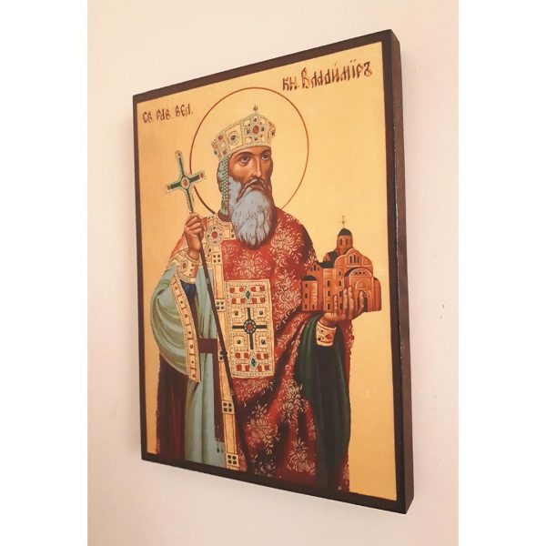 Saint Vladimir the Great, Christian Icon 8x6 in / 21x15 cm