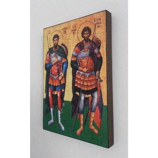 """Tyrone and Stratilat"" Christian Icon 8x6"" (21x15cm)"