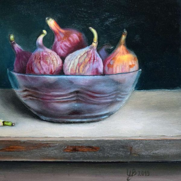 Figs, Oil Painting 13x9 in / 33x24 cm