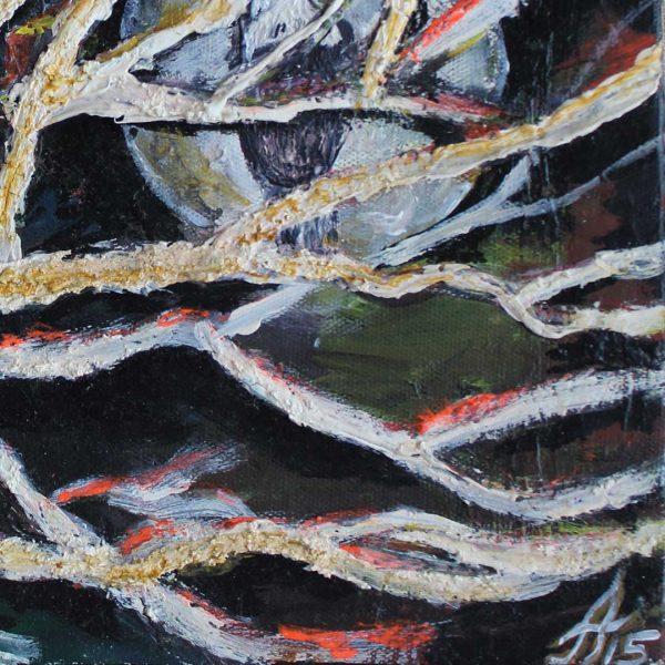 "Full Moon, Acrylic Painting 10x10"" (25x25cm)"