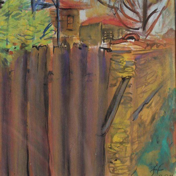 "Zheravna, Crayon Painting 12x16"" (31x41cm)"
