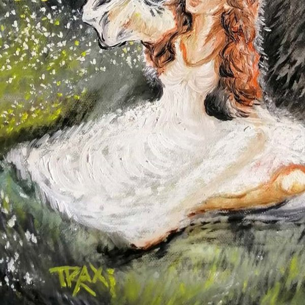 Dance of Fireflies, Oil Painting by Diana Dimova