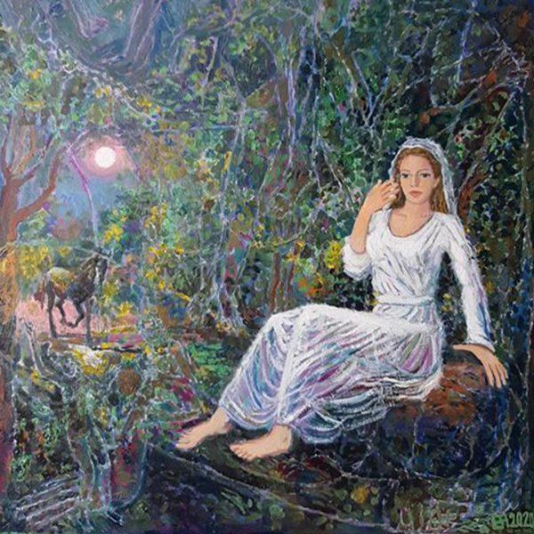 Night, Oil Painting by Veselin Nikolov
