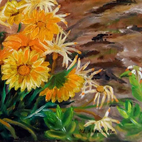 In the Garden, Oil Painting by Ivanka Alexieva