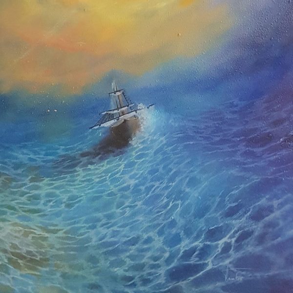 Storm, Oil Painting by Nikolai Pashkov