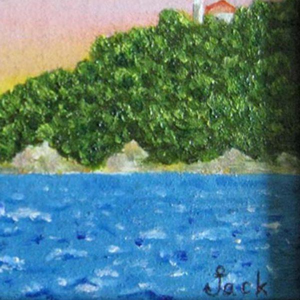 "Road Wind , Oil Painting 6x10"" (14x18cm)"