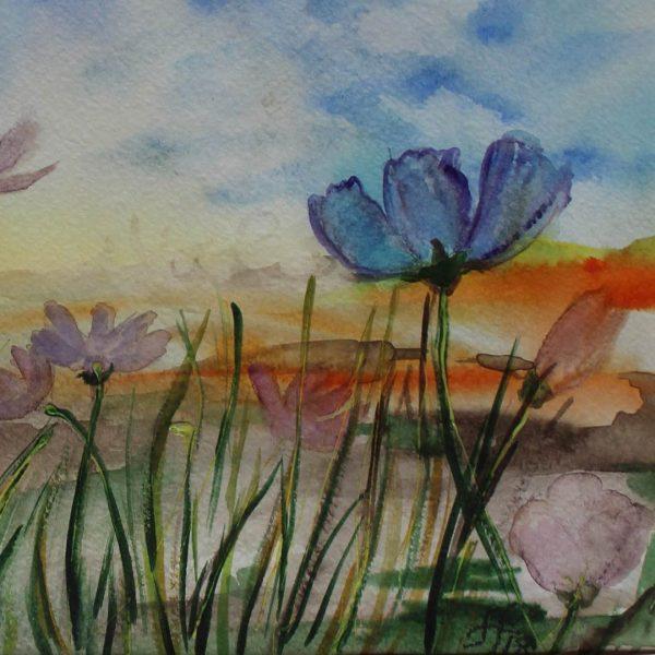 """Landscape, Water Colour Painting 12x16"""" (31x41cm)"""