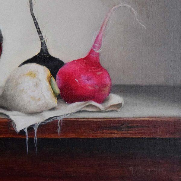 Turnips, Oil Painting 13x16 in / 33x41 cm