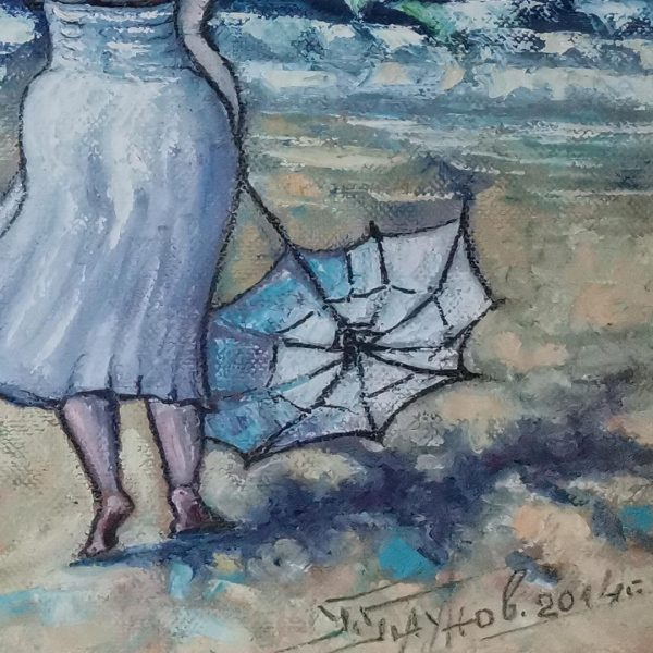Waiting, Oil Painting by Georgi Paunov - Son