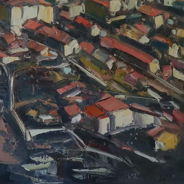 Bonifacio Corsica, Oil Painting by Georgi Paunov