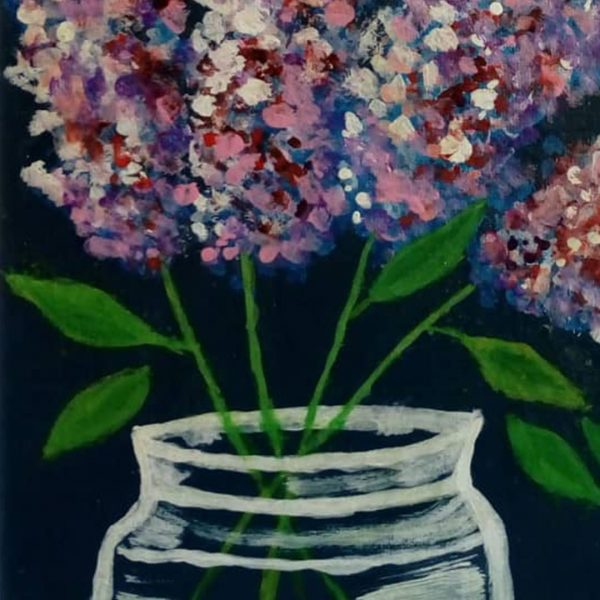 Lilac Spring, Acrylic Painting 16x12 in / 40x30 cm