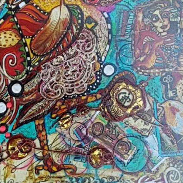 Rooster, Mixed Painting by Svetlana Taskova