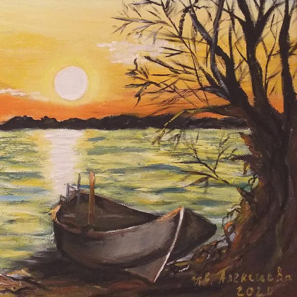 On the Shore, Oil Painting by Ivanka Alexieva