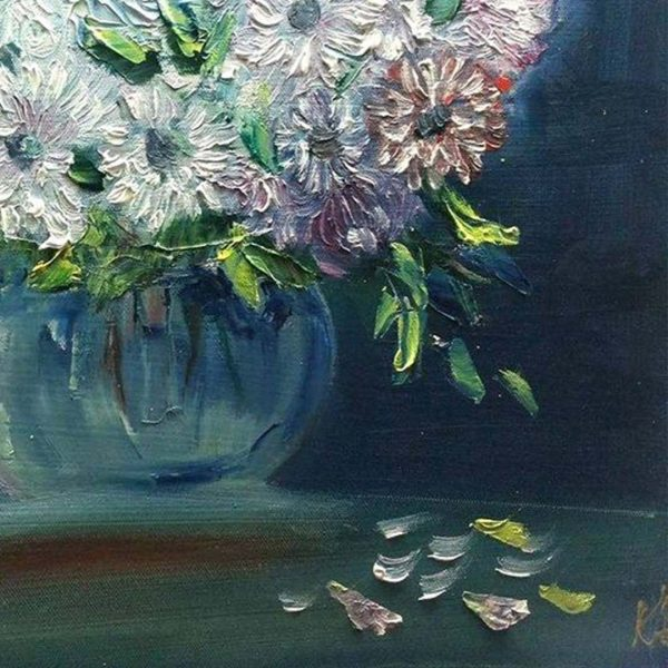"""Bunch of Flowers, Oil Painting 14x20"""" (35x50cm)"""