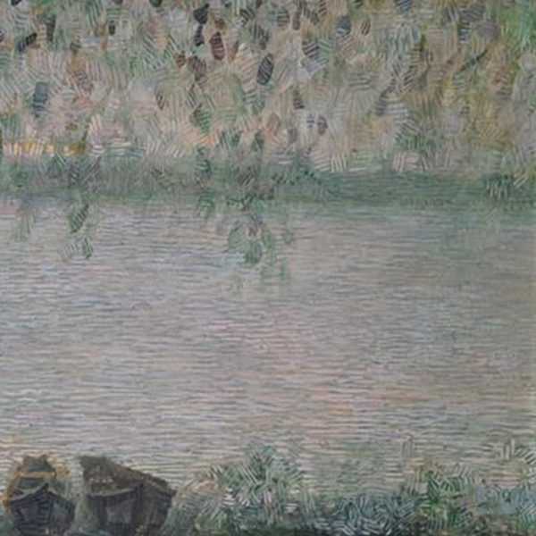 Boats on the Danube, Mixed Painting by Veselin Nikolov
