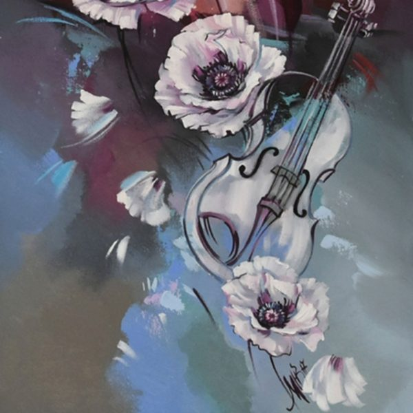 Poppy Girl, Oil Painting 32x20 in / 80x50 cm