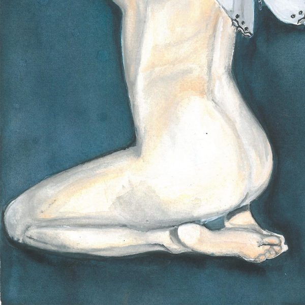 """Tenderness, Watercolor Painting 10x14"""" (26x36cm)"""