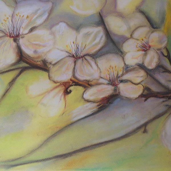 """Autumn Landscape, Crayon Painting 14x20"""" (35x50cm)"""