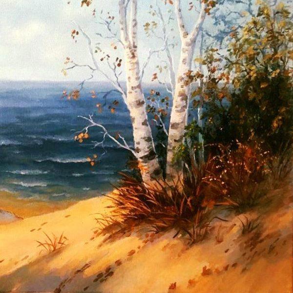 Dunes, Oil Painting by Elena Velichkova