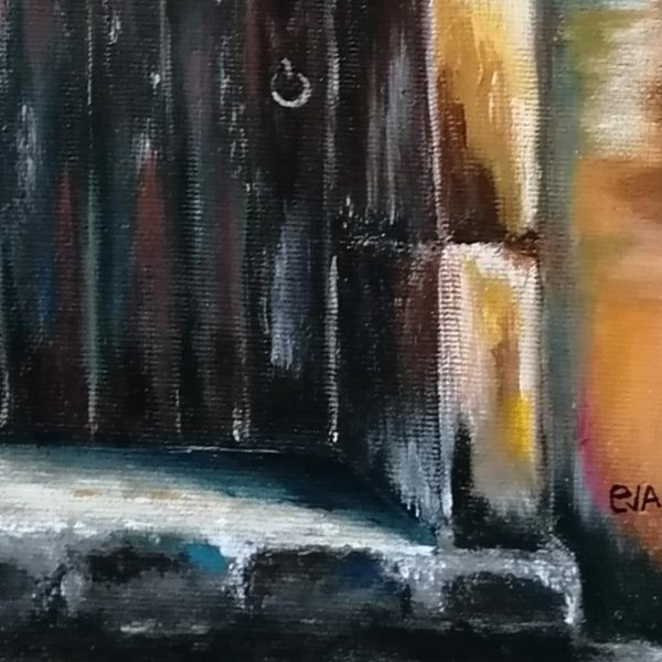 In Front of the Threshold, Acrylic Painting by Evelina Milanova