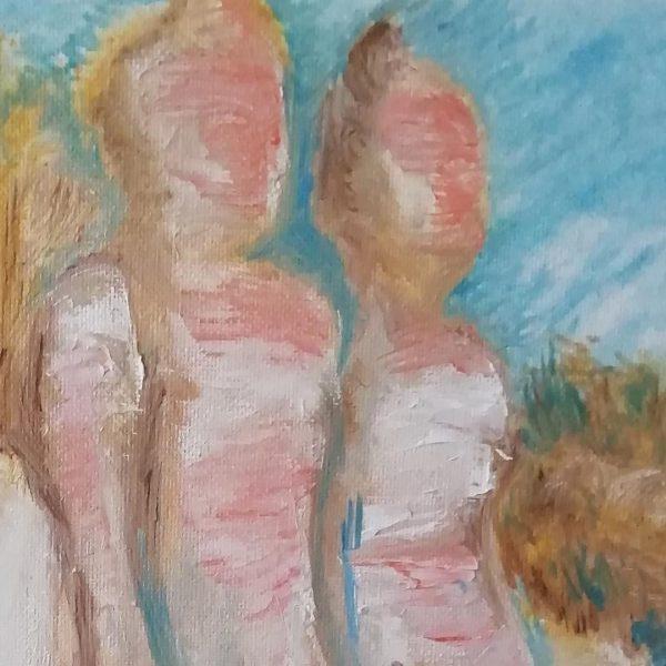 Stone Wedding, Oil Painting 16x16 in / 40x40 cm