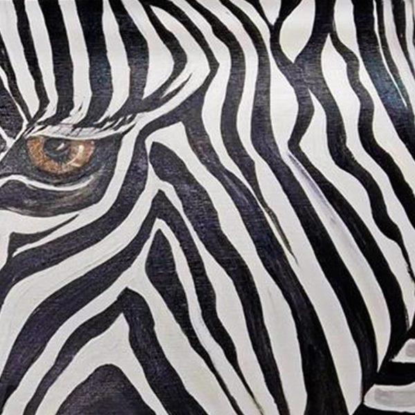 """Zebra, Mixed Painting 39x24"""" (100x60cm)"""