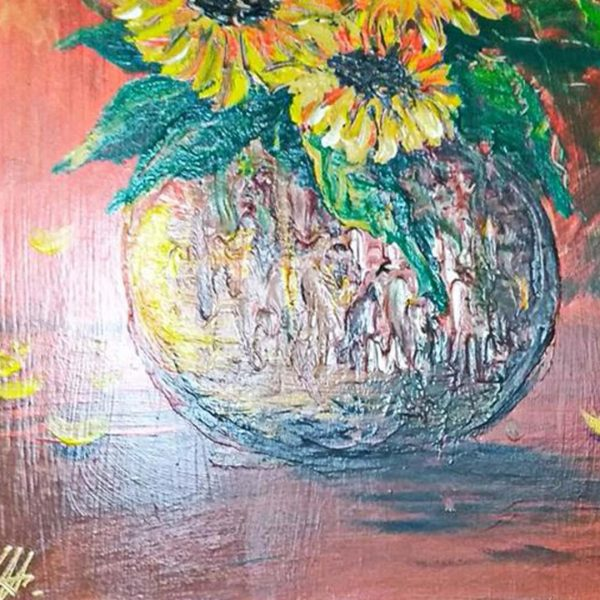 """Sunflowers, Mixed Painting 16x22"""" (40x55cm)"""