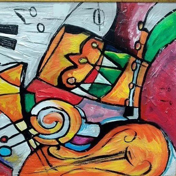 "Music Аrrangement, Mixed Painting 18x26"" (45x65cm)"