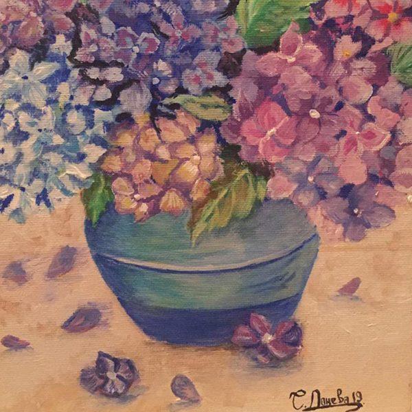 "Spring, Tempera Painting 7x10"" (18x26cm)"