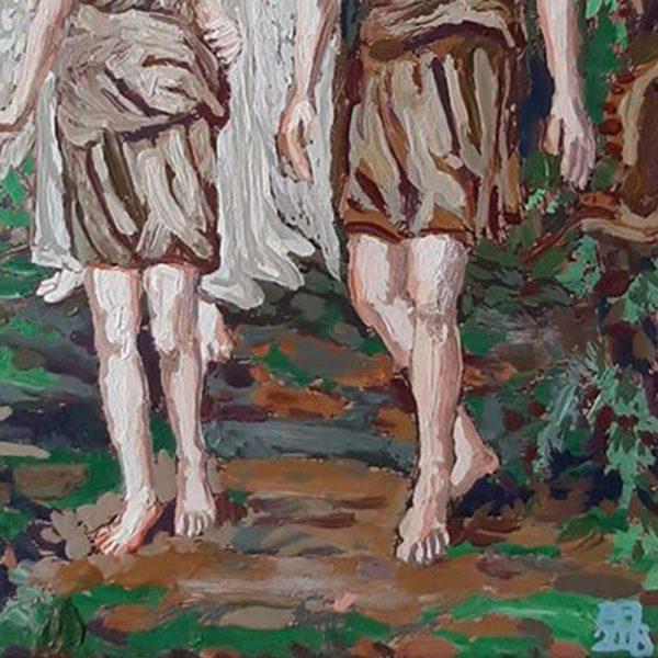 Expulsion From Paradise, Oil Painting by Veselin Nikolov