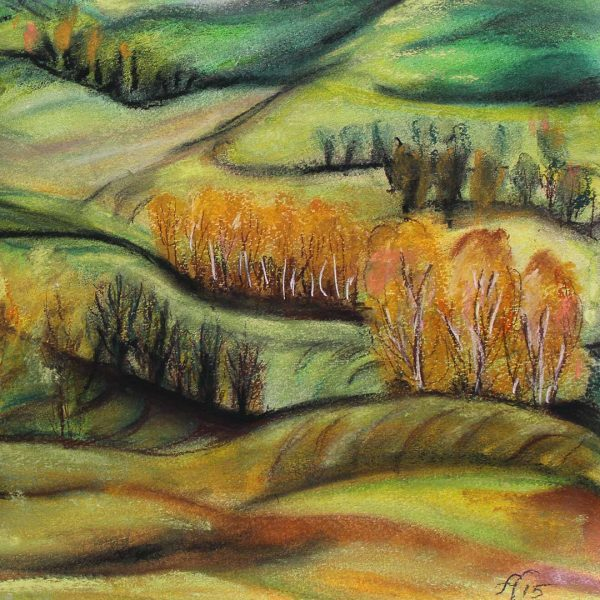 """Spring Colors, Crayon Painting 12x16"""" (31x41cm)"""