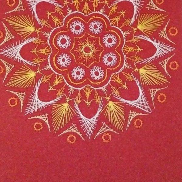 Light, Handmade Embroidery 14x18 in / 36x46cm