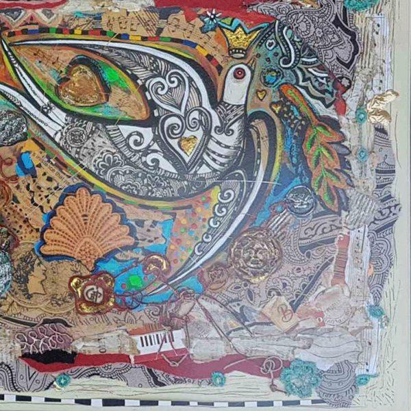 White Swallow, Mixed Painting by Svetlana Taskova