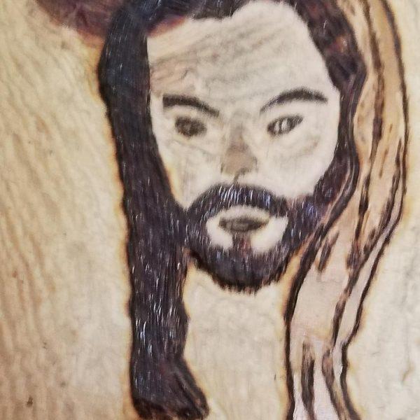 "Jesus Christ, Pyrophaphy Wooden Artwork 8x6"" (21x15cm)"