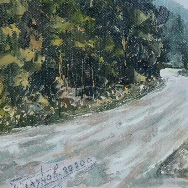 On the Road, Oil Painting by Georgi Paunov - Son