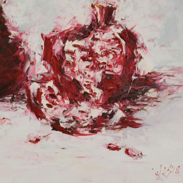 Pomegranates, Oil Painting 20x24 in / 50x60 cm