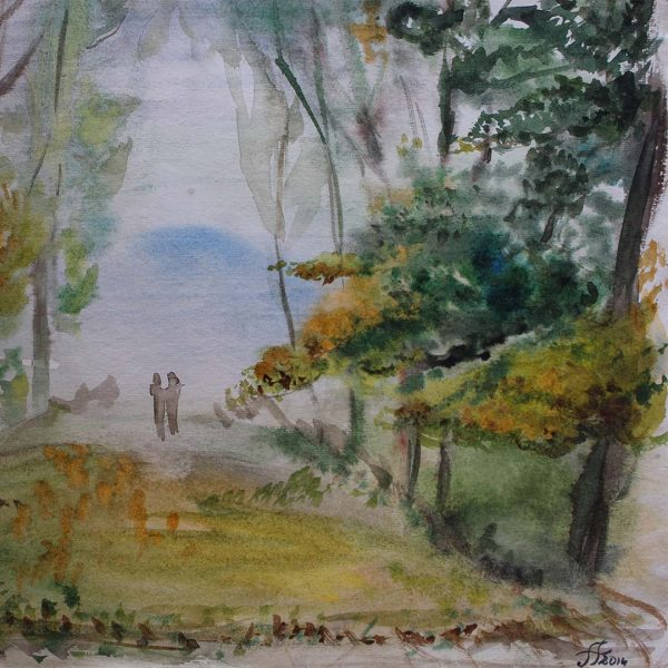 """Road, Water Colour Painting 14x20"""" (35x50cm)"""