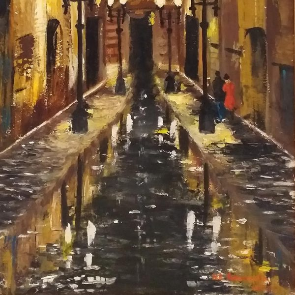Midnight Secrets, Oil Painting by Ivanka Alexieva