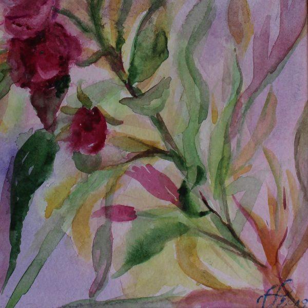 "Oleander, Water Colour Painting 12x16"" (31x41cm)"