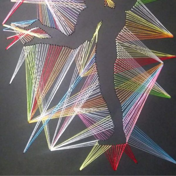 Dance for Two, Handmade Embroidery 12x16 in / 30x40 cm