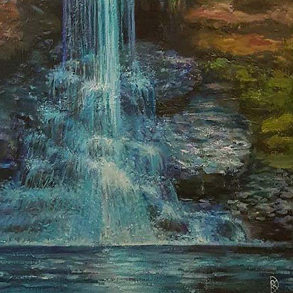 The Waterfall of Desires, Oil Painting by Rumyana Hristova