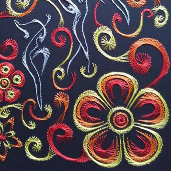 Nestinar, Handmade Embroidery 12x16 in / 30x40cm