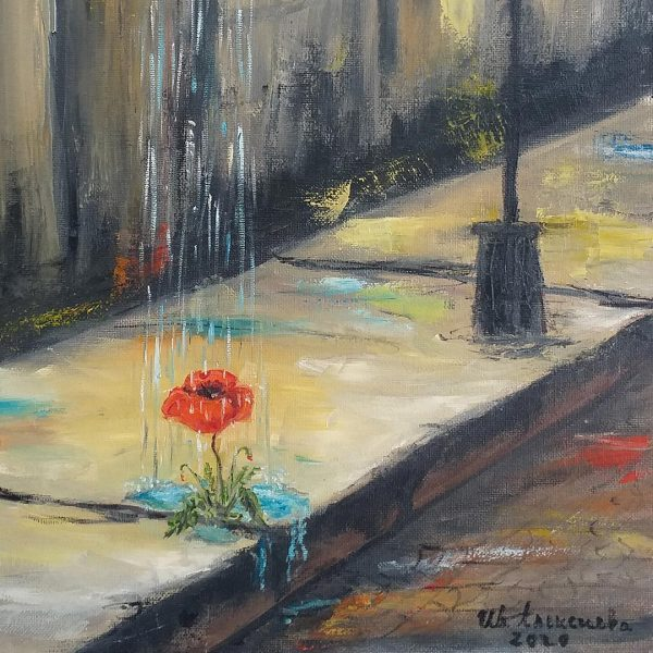 Thirst for Life, Oil Painting by Ivanka Alexieva